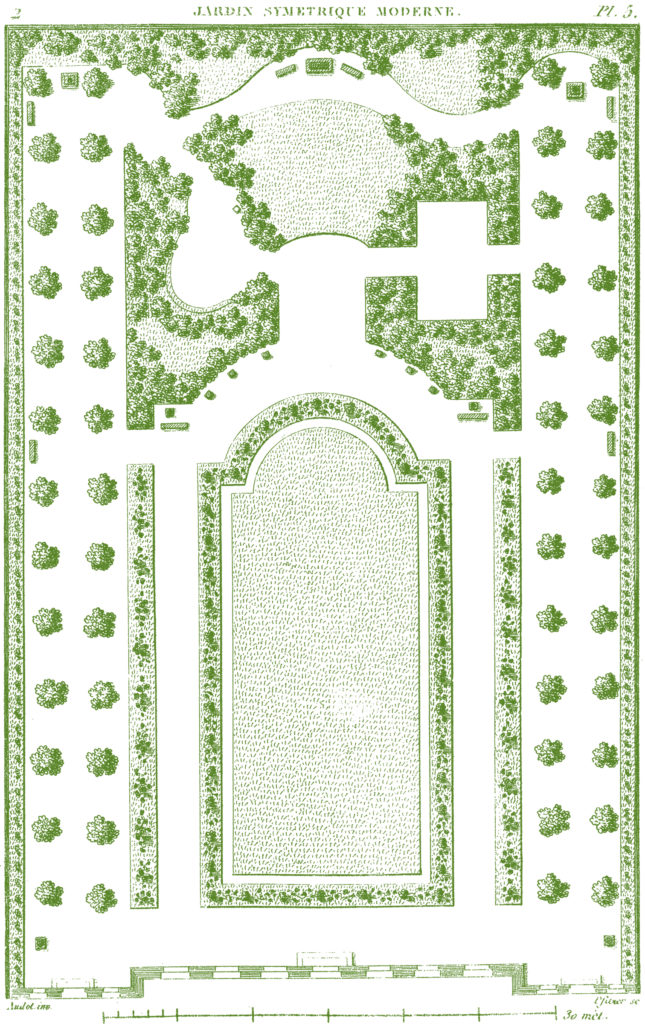 antique landscaping plan clip art