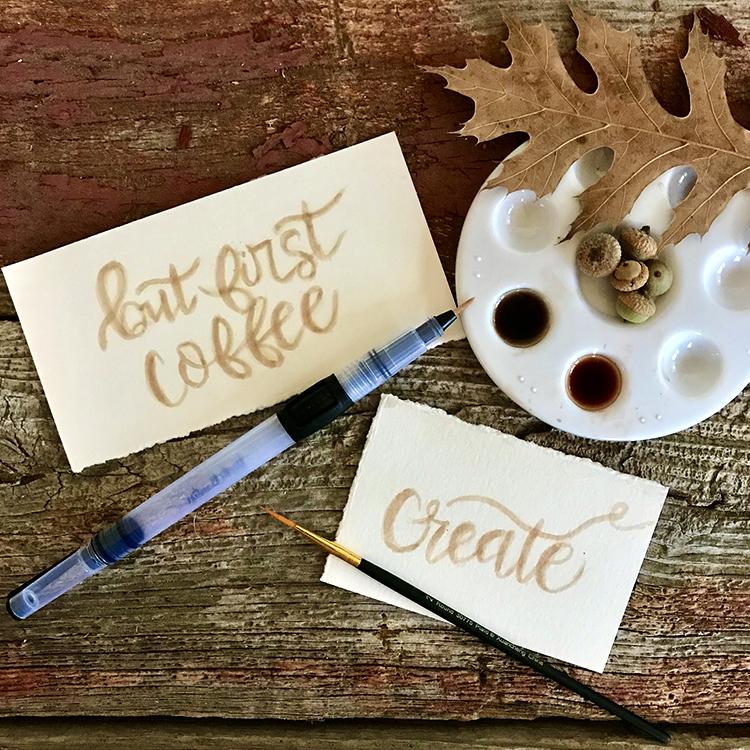 Calligraphy Acorn Inks Examples