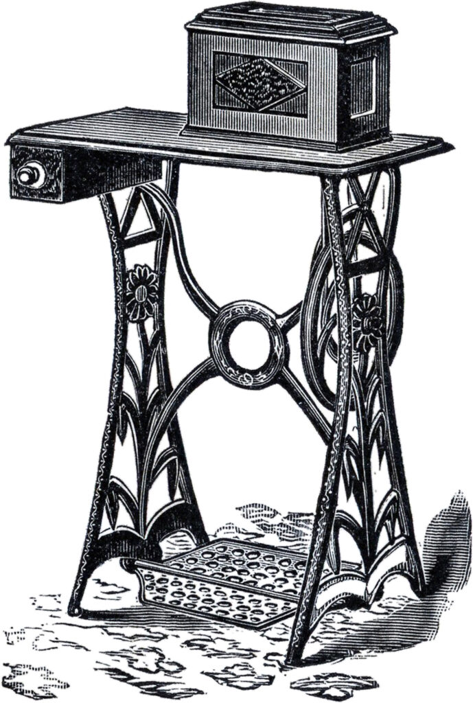 Floral Sewing Cabinet Image