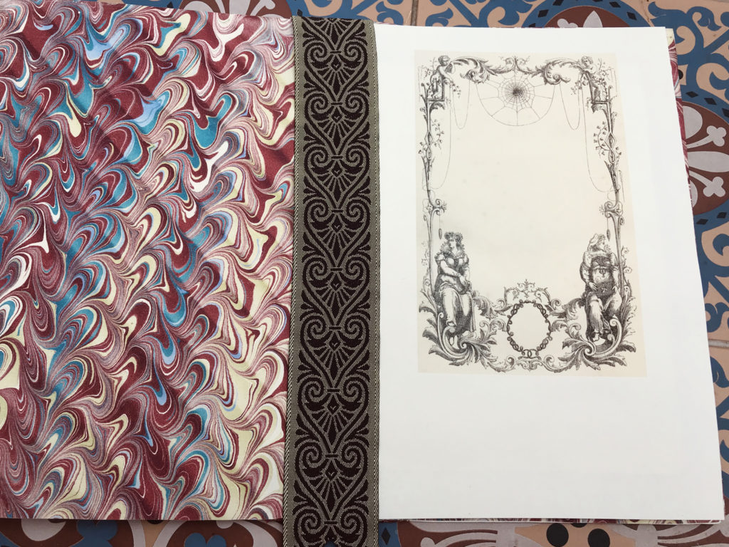 marbled endpapers