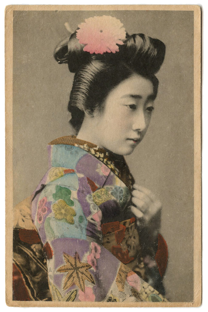 vintage japan geisha photo image