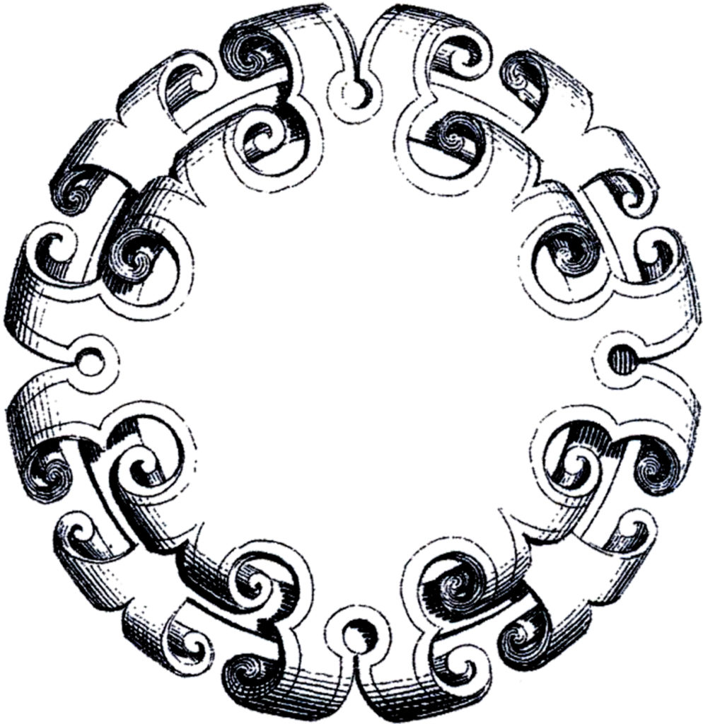 round baroque ornament frame image