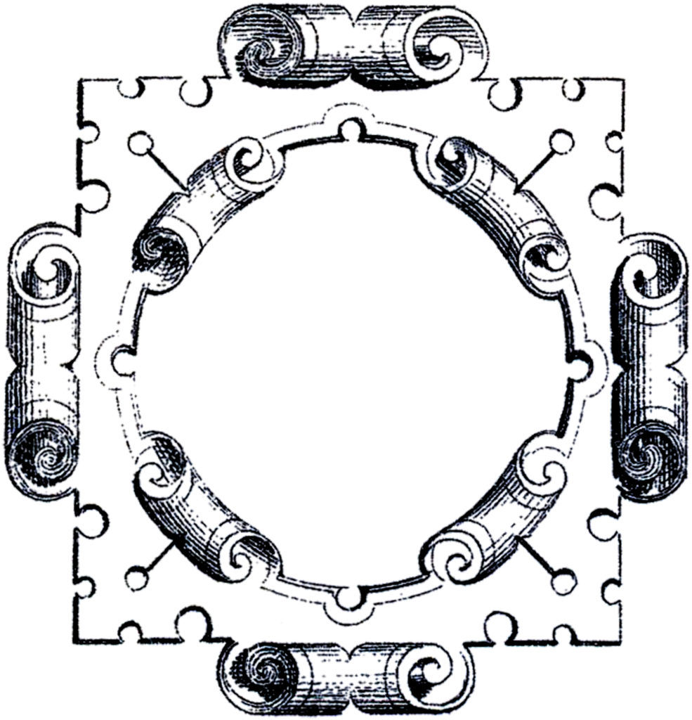 square baroque ornament frame illustration