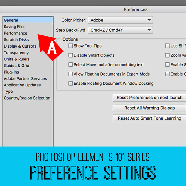 PSE tutorial Preference Settings