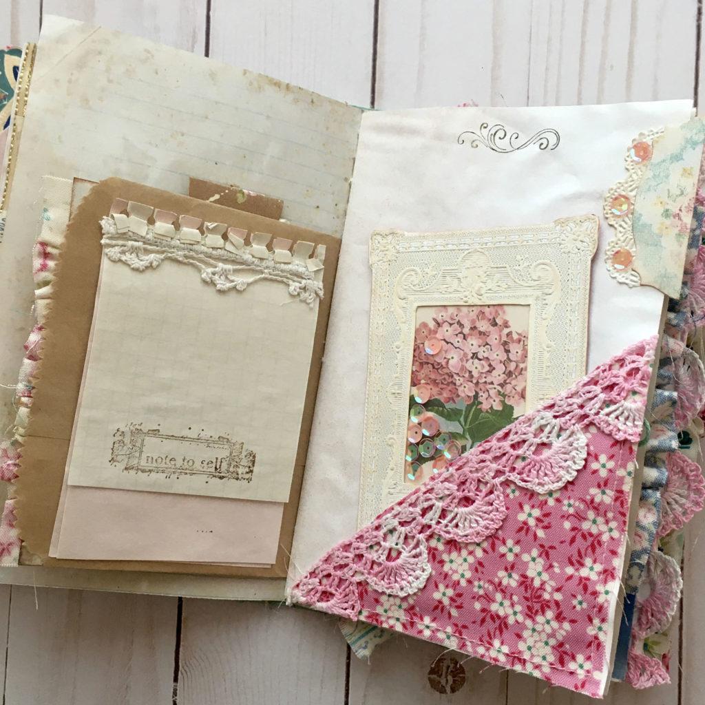 shabby junk journal ephemera page