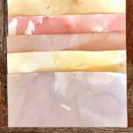 Tea Dyed Paper with Color Teas