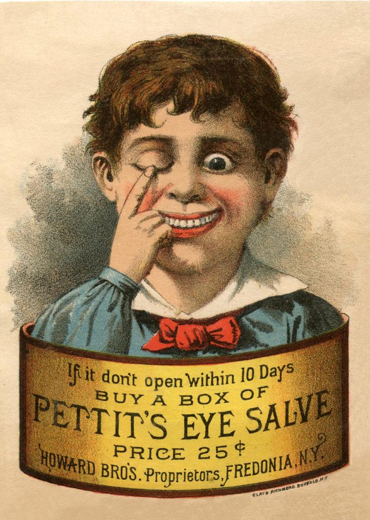 vintage eye salve advertising image