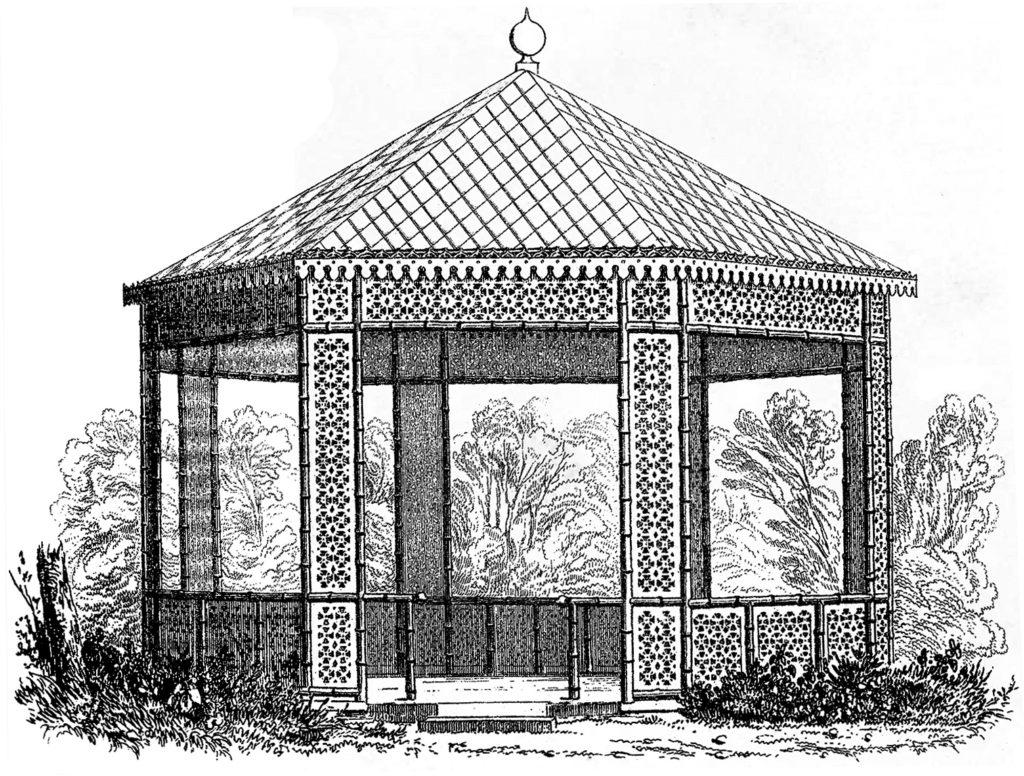 vintage garden gazebo image