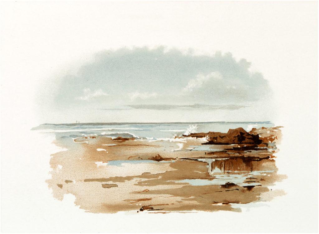 vintage seascape illustration