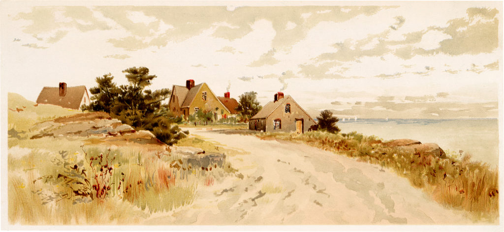 vintage seaside cottage image