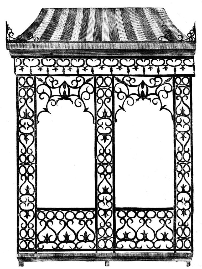 iron arch garden pavilion image