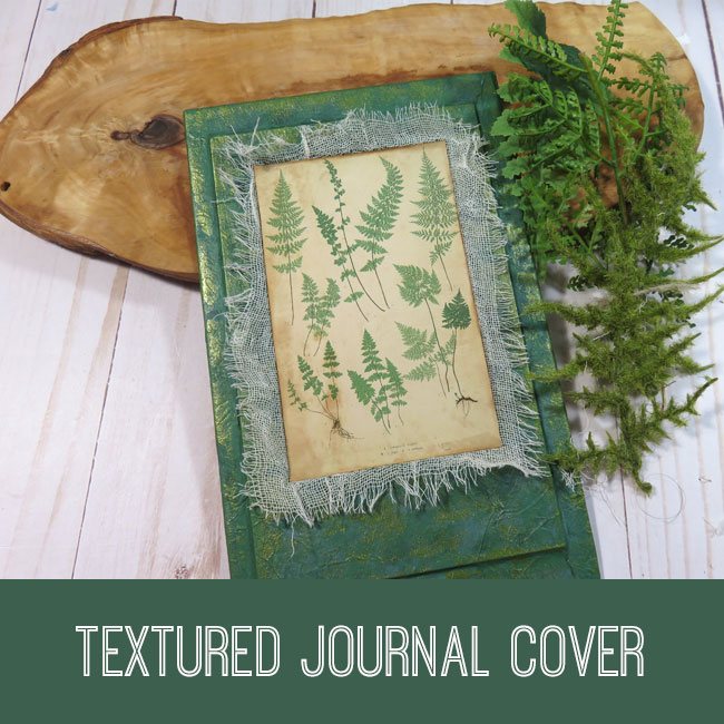textured journal cover tutorial