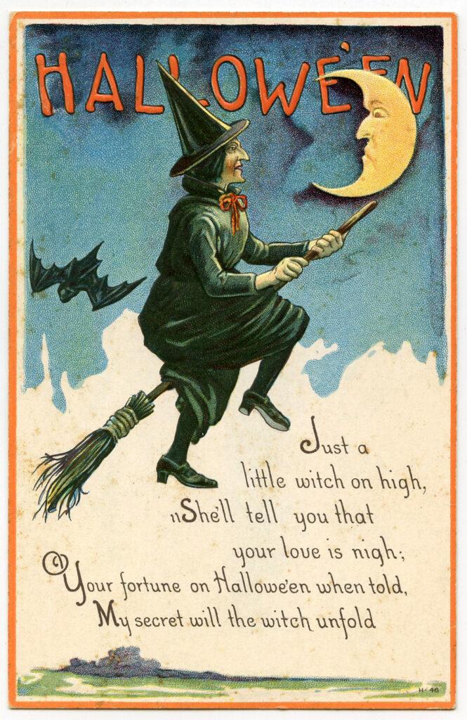 Black Halloween Witch Image