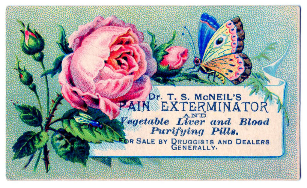 vintage advertising typography calling card