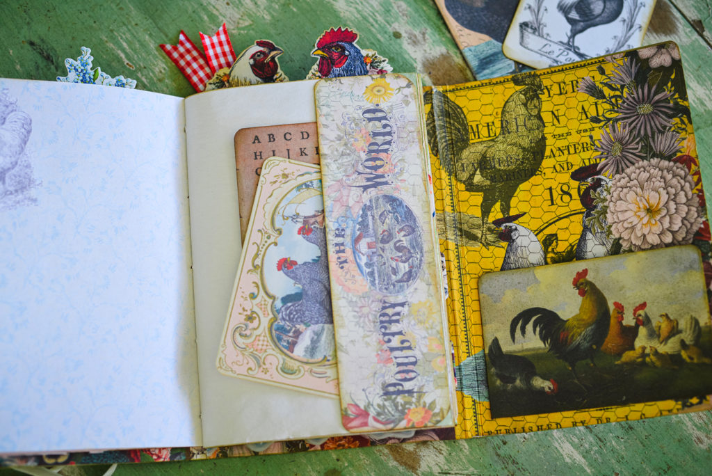 chicken ephemera junk journal tuck spot