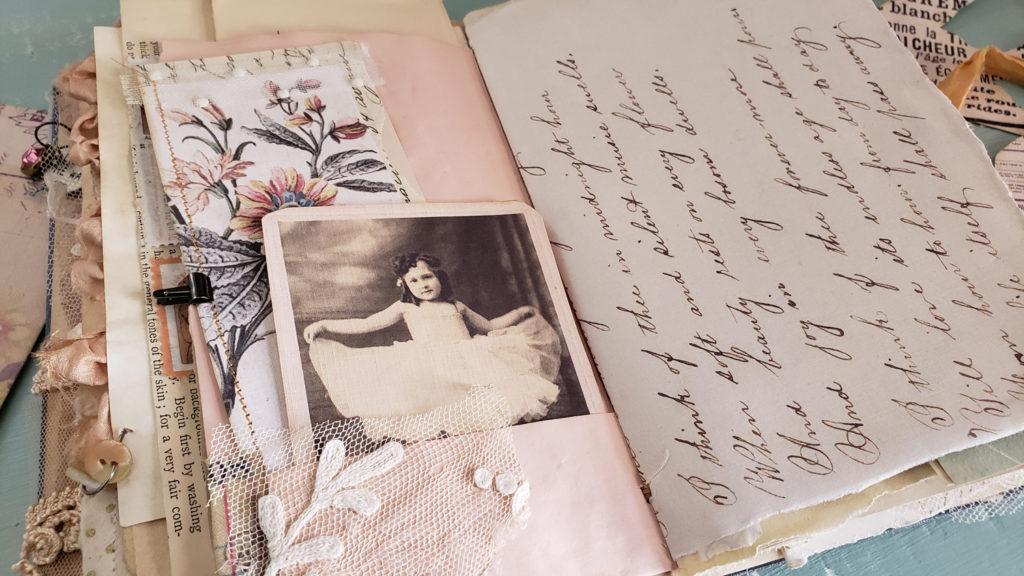 ballerina photo junk journal card