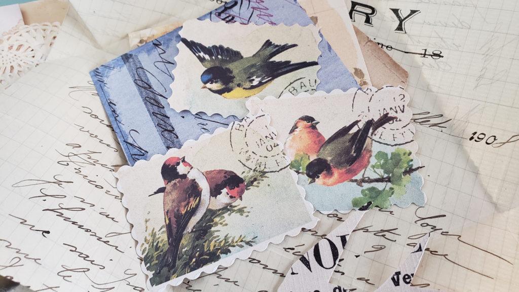 bird printable postage stamps