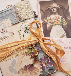 Faded floral Junk journal