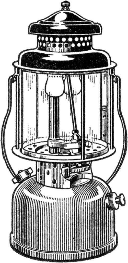vintage retro camping lantern clipart