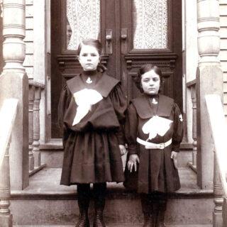 spooky sisters standing steps image