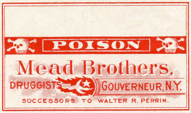 poison label vintage advertising image