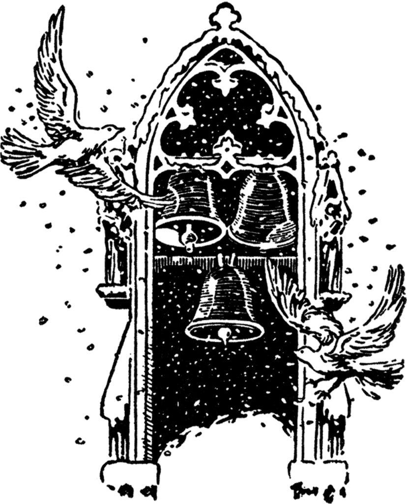 vintage church window dove image