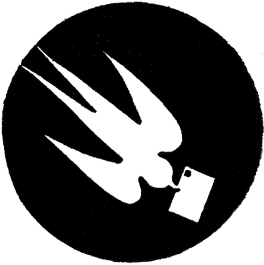 vintage dove silhouette letter image