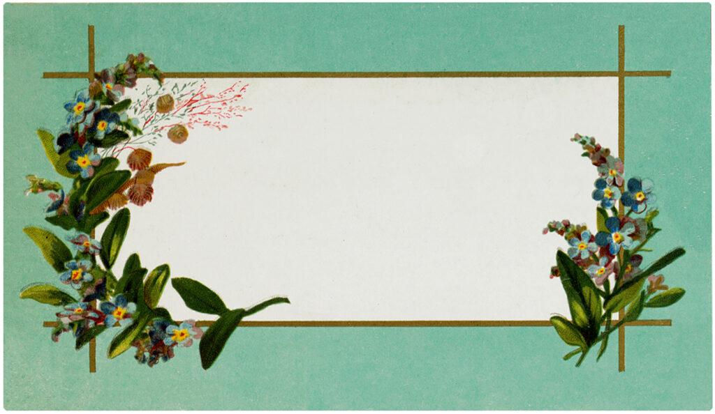 vintage floral label blank clipart