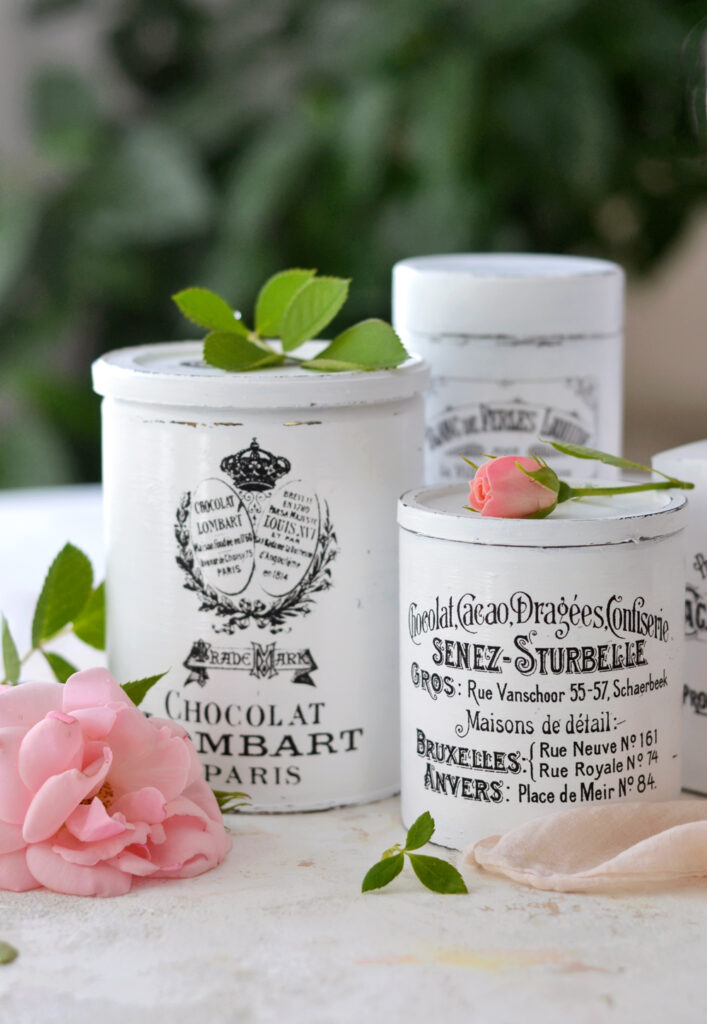 DIY French Chic Recycled Containers