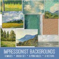 impressionist backgrounds kit