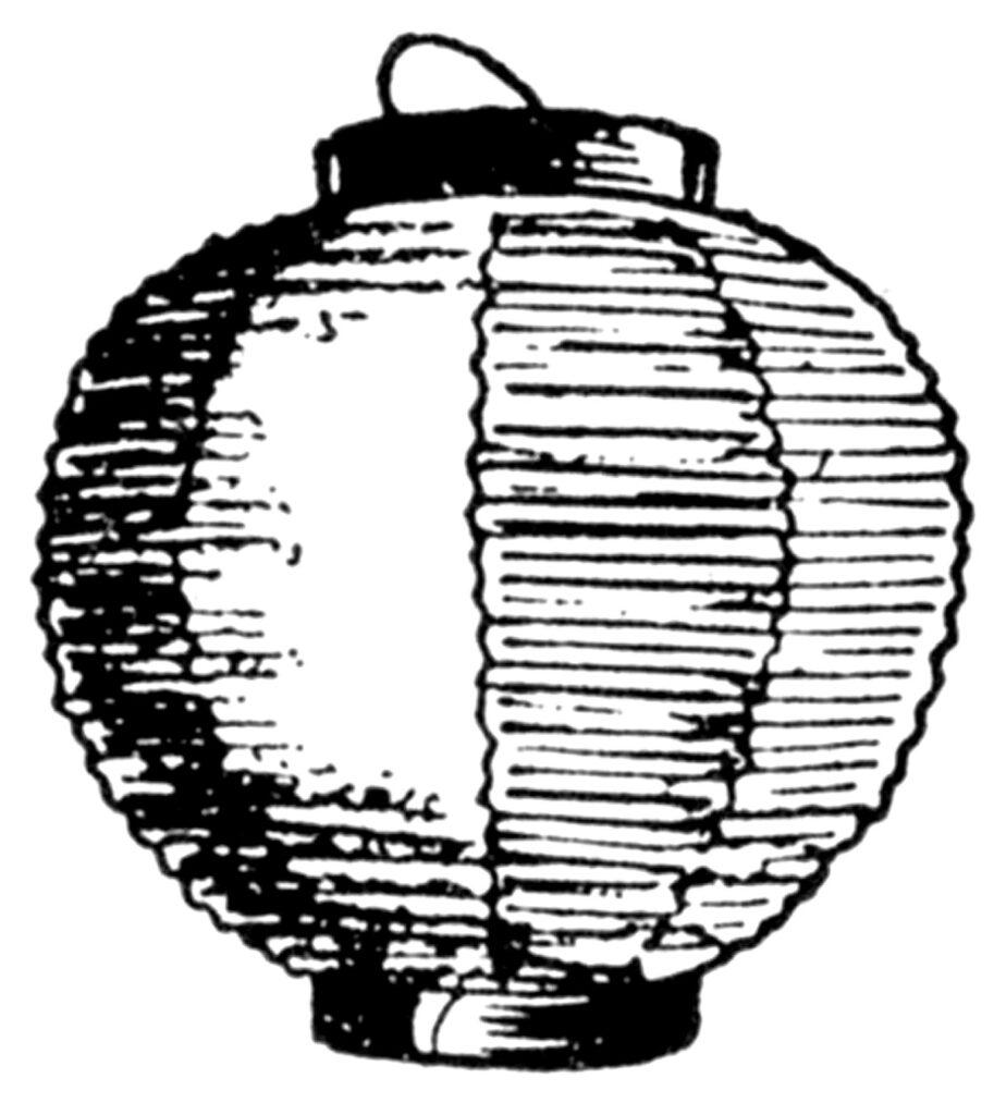 japanese paper lantern clipart