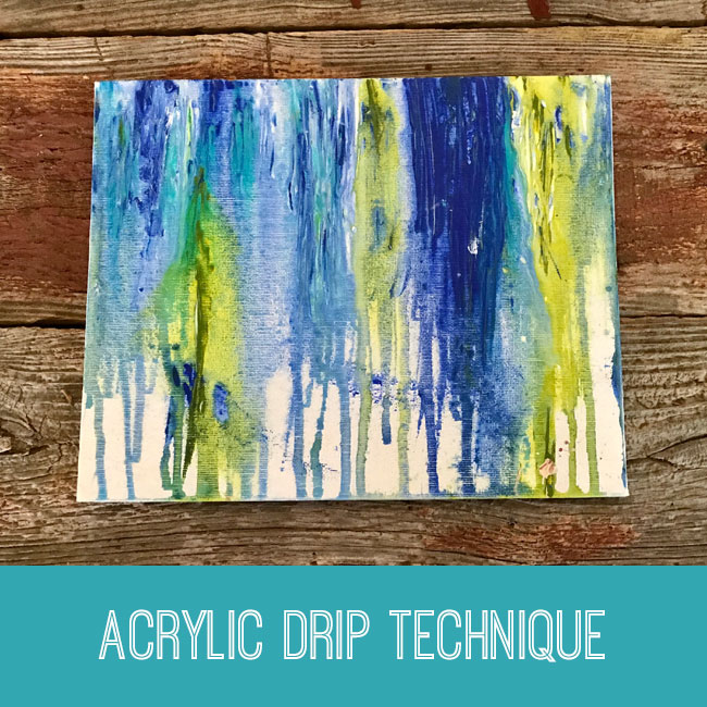acrylic drip technique craft tutorial