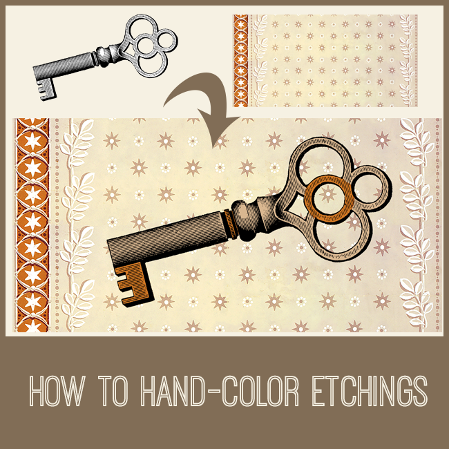 PSE tutorial how to hand-color etchings
