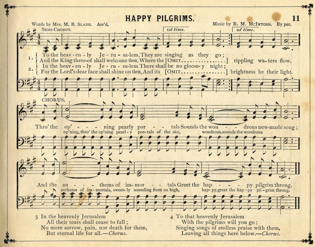 Happy Pilgrims Sheet Music Image