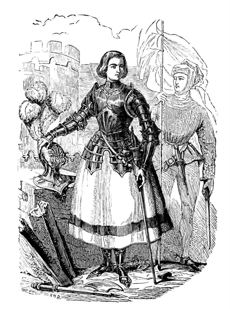 Joan of Arc vintage engraving image