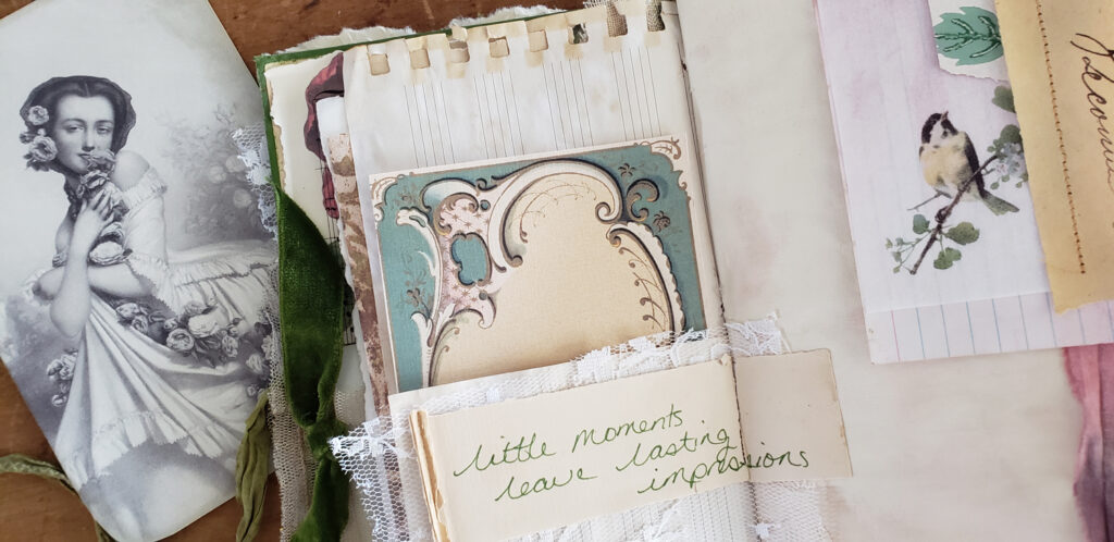 french image journal card