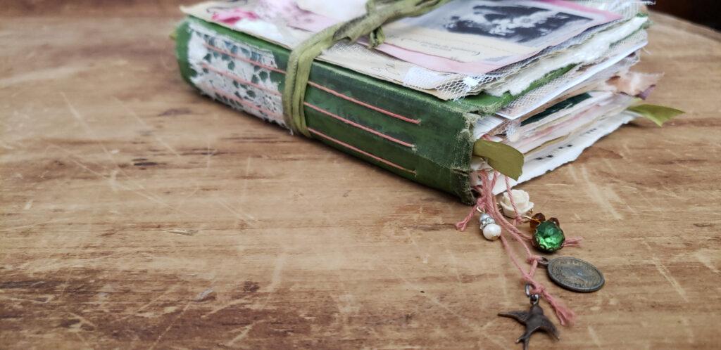 Parisian Flower Market journal spine