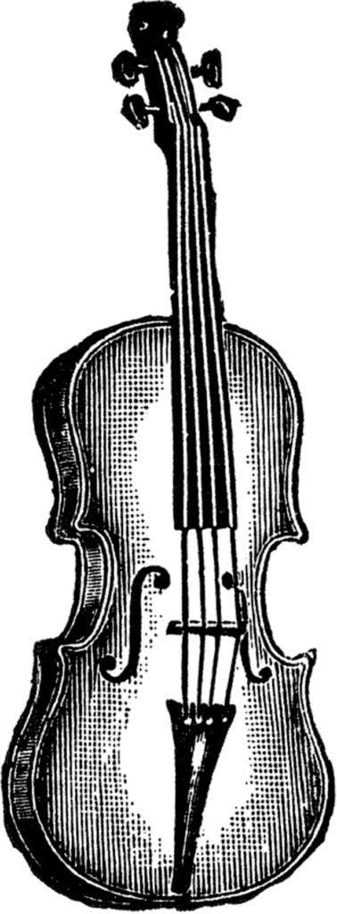 vintage violin clipart