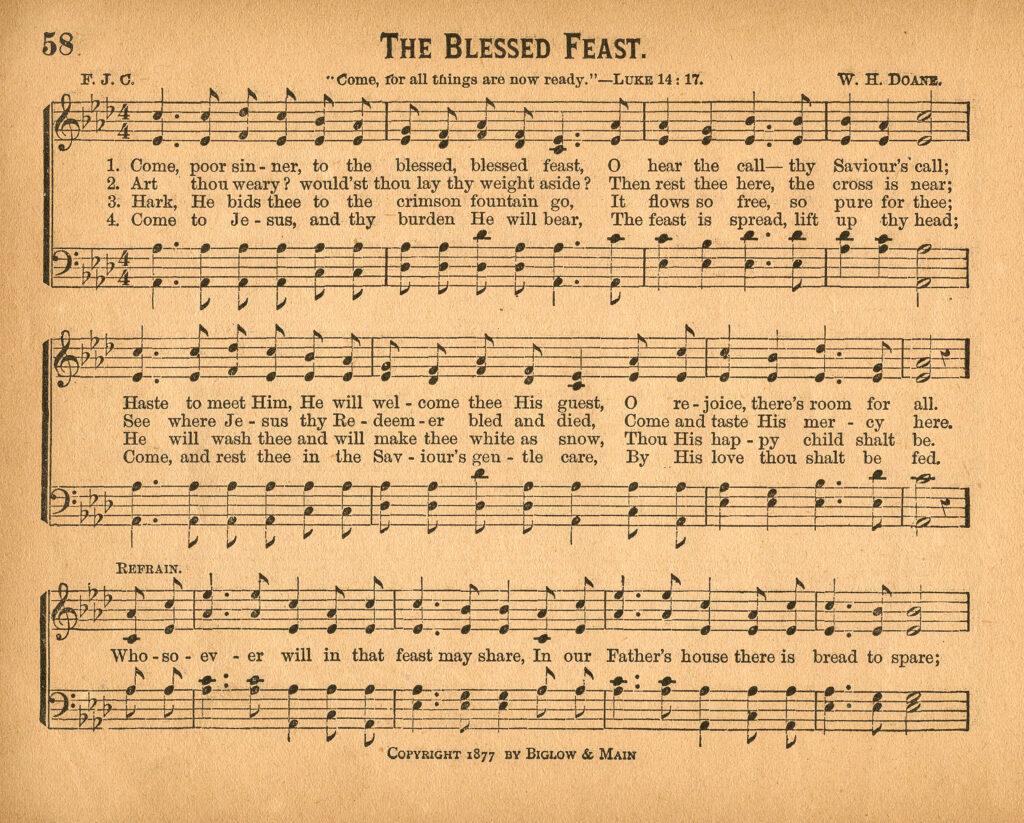 Blessed Feast Sheet Music Clip Art