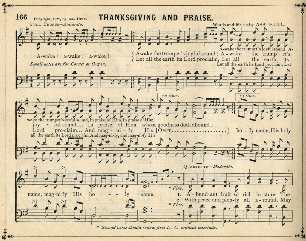 Thanksgiving Sheet Music Clipart