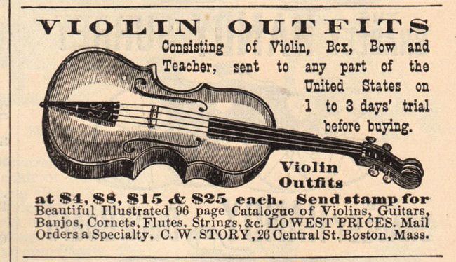 vintage violin ad image