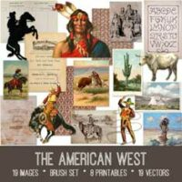 vintage American West ephemera bundle