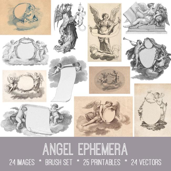 Angel Ephemera Vintage images