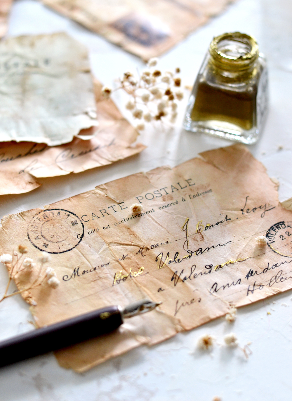 Make Antique French Ephemera Paper