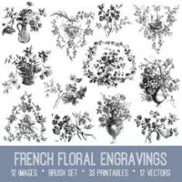 French Floral Engravings