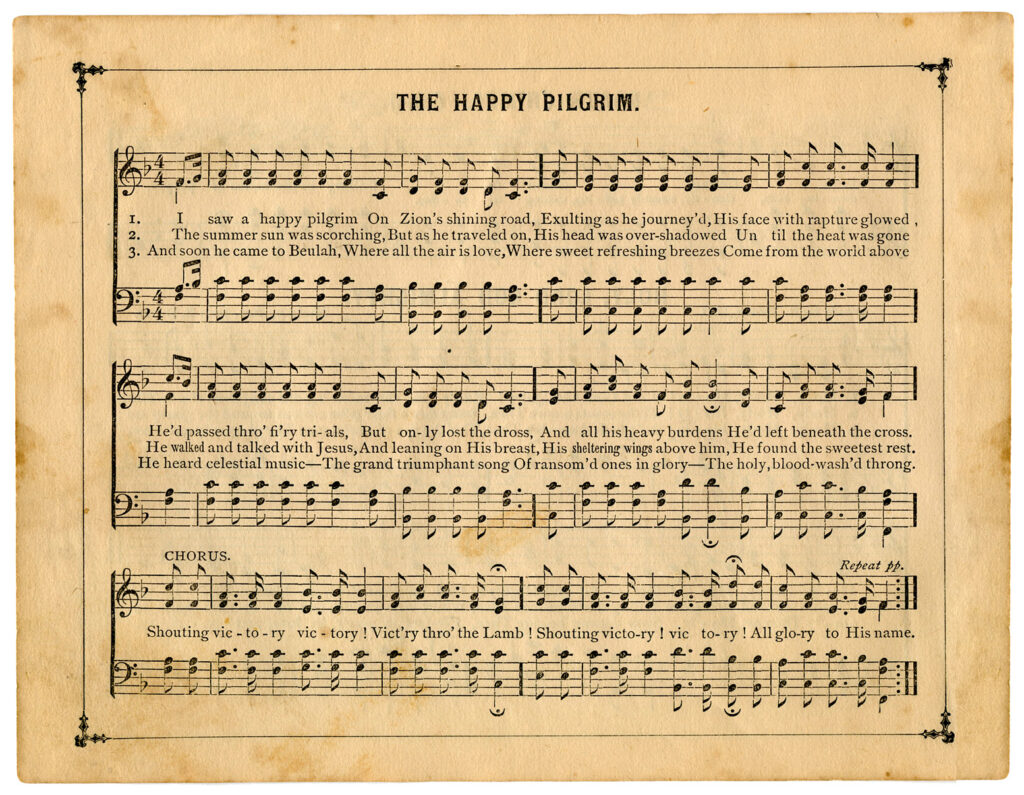 the happy pilgrim sheet music image