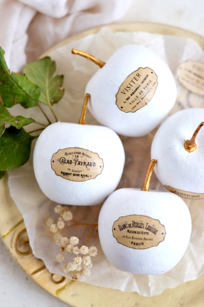 Fall French Apple Decor