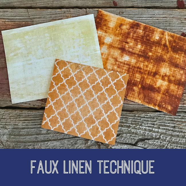 Faux Linen Technique Craft Tutorial