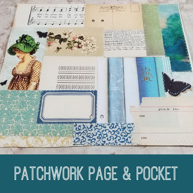 patchwork page & pocket tutorial