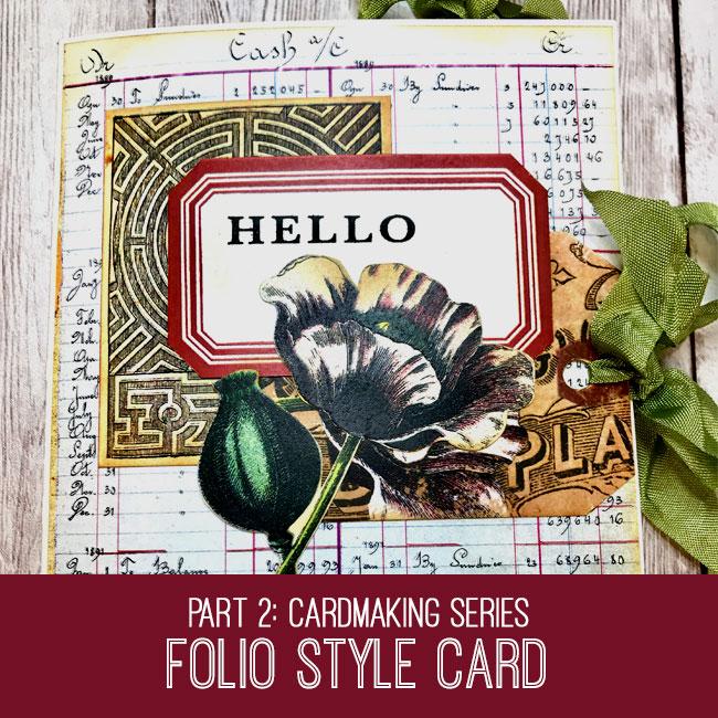 Folio Style Card Craft Tutorial